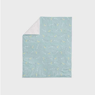 Oliver Gal Signature Collection 'Sheep & Moon Stars' Printed Minky Blanket
