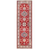 Handmade Herat Oriental Afghan Vegetable Dye Tribal Kazak Wool Runner (Afghanistan) - 2'1 x 6'9