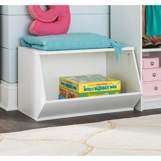 ClosetMaid KidSpace White Stackable Angled Bin