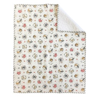 Oliver Gal Signature Collection 'Woodland Critters' Crib Quilt Coverlet