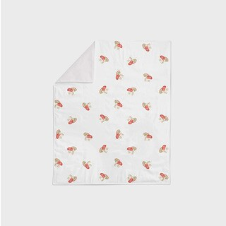 Oliver Gal Signature Collection 'Mushroom' Minky Blanket