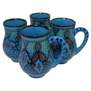 Large Stoneware Mugs (set of 4)  Sabrine Design, by Le Souk Ceramique