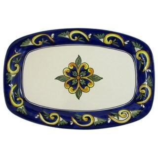 Le Souk Ceramique RY29 Stoneware Rectangular Platter, Riya (Option: Rectangle)