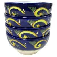 Le Souk Ceramique RY33 Stoneware Soup/Cereal Bowls, Set of 4, Riya