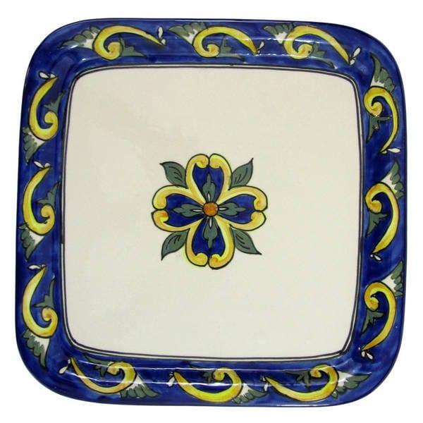 Le Souk Ceramique RY36 Stoneware Square Platter, Riya