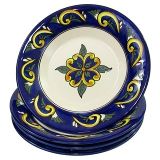 Le Souk Ceramique RY39 Stoneware Pasta/Salad Bowls, Set of 4, Riya