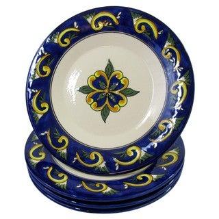 Le Souk Ceramique RY43 Stoneware Dinner Plates, Set of 4, Riya