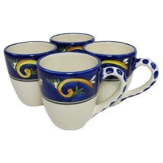 Le Souk Ceramique RY57 Stoneware Tea Cups, Set of 4, Riya