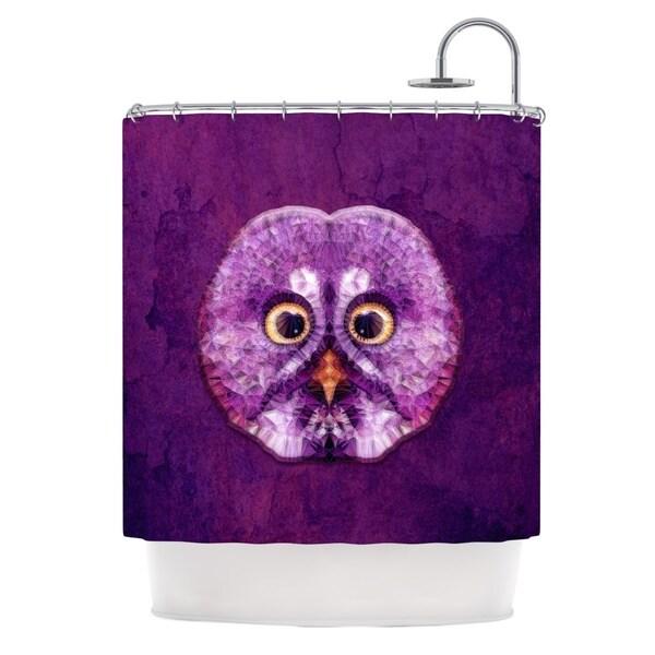 KESS InHouse Ancello Hoot! Owl Purple Shower Curtain (69x70)
