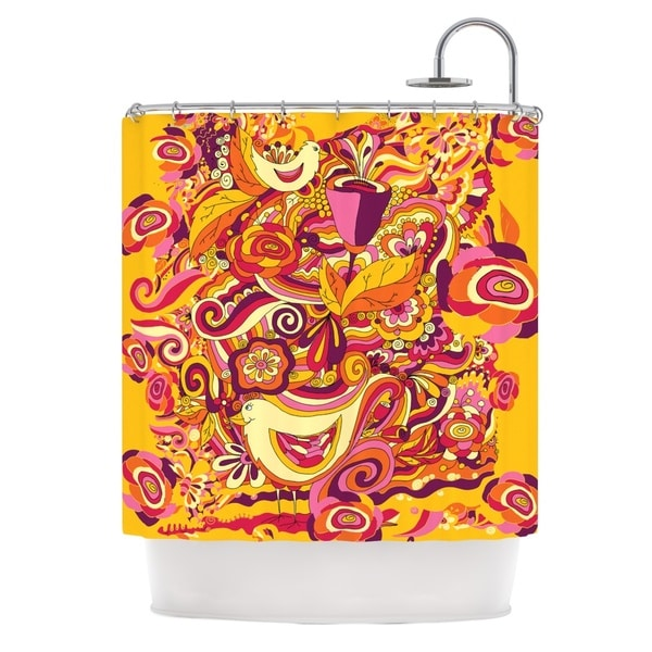 KESS InHouse Alisa Drukman Utopia Orange Gold Shower Curtain (69x70)