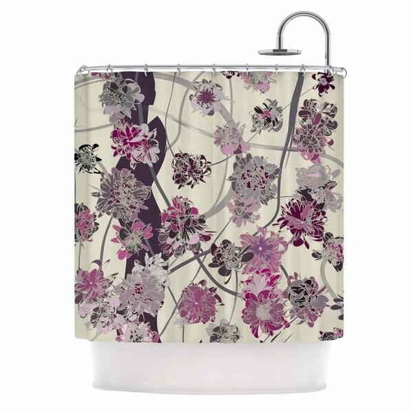 KESS InHouse Angelo Cerantola Springtime Again Pink Floral Shower Curtain (69x70)