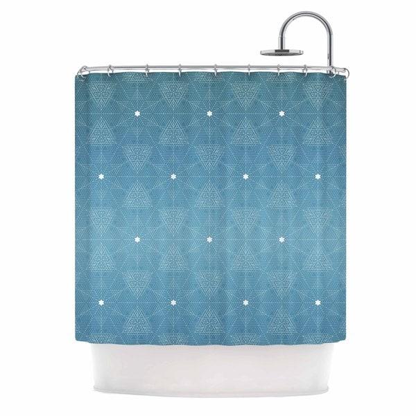 KESS InHouse Angelo Cerantola Celestial Blue White Shower Curtain (69x70)