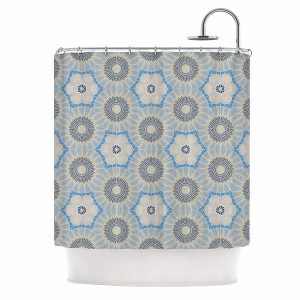 KESS InHouse Angelo Cerantola Satori Beige Blue Shower Curtain (69x70)