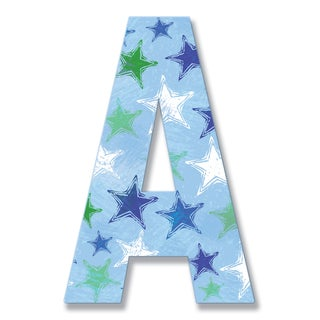 """18"""" Oversized Distressed Stars Hanging Initial"""