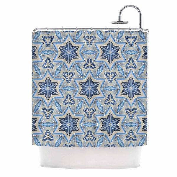 KESS InHouse Angelo Cerantola Astral Beige Blue Shower Curtain (69x70)