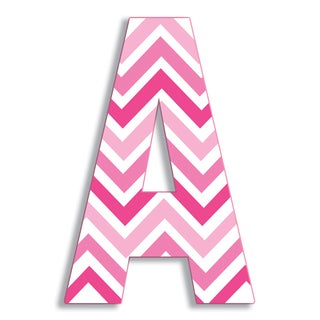 "18"" Oversized Pink Chevron Hanging Initial (More options available)"