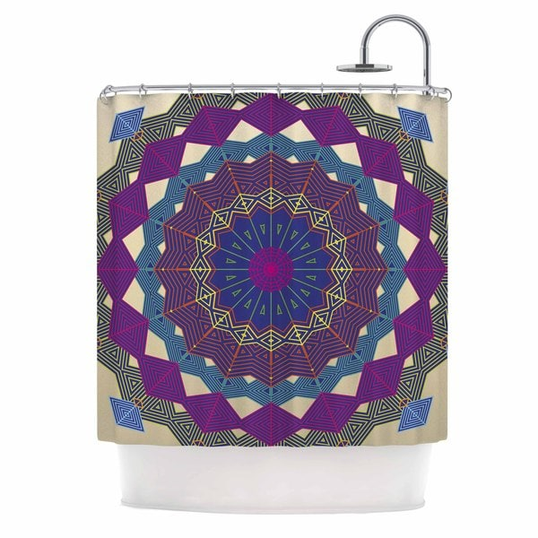 KESS InHouse Angelo Cerantola Composition (Purple) Lavender Beige Shower Curtain (69x70)