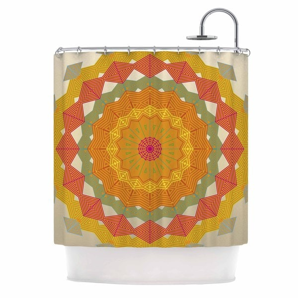 KESS InHouse Angelo Cerantola Composition Orange Beige Shower Curtain (69x70)