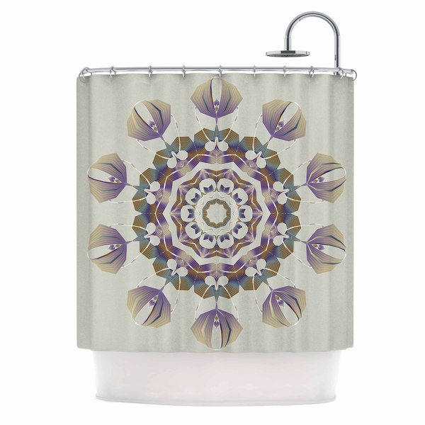 KESS InHouse Angelo Cerantola Reach Out Beige Lavender Shower Curtain (69x70)