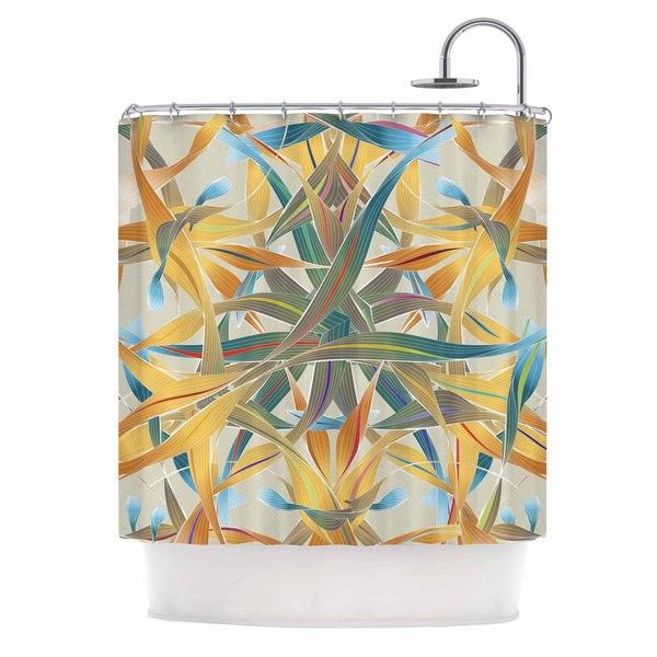 KESS InHouse Angelo Cerantola Supreme Multicolor Orange Shower Curtain (69x70)