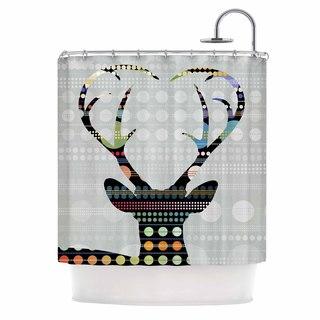 KESS InHouse Angelo Cerantola Pop Deer Grey Black Shower Curtain (69x70)
