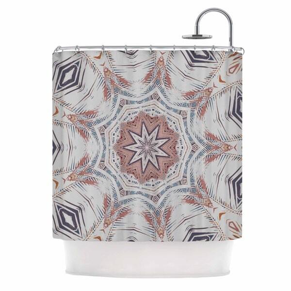KESS InHouse Alison Coxon Boho Dream Tan Pink Blue Shower Curtain (69x70)