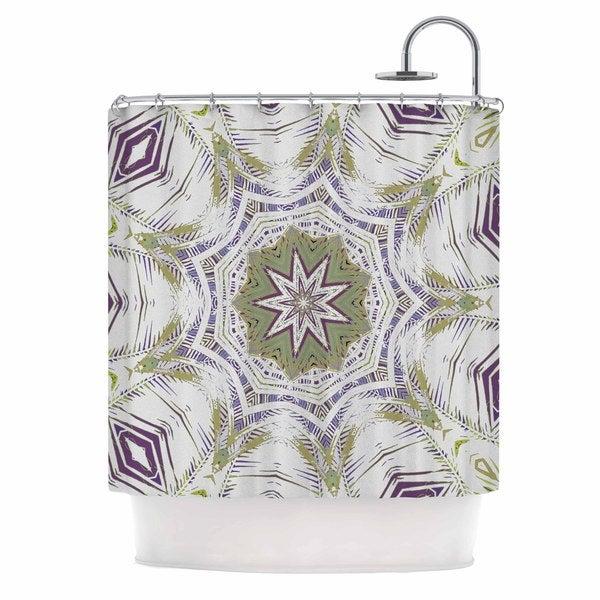 KESS InHouse Alison Coxon Boho Dream Olive  Purple Green Shower Curtain (69x70)