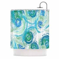 KESS InHouse Alison Coxon Sophia Blue Green Blue Shower Curtain (69x70)