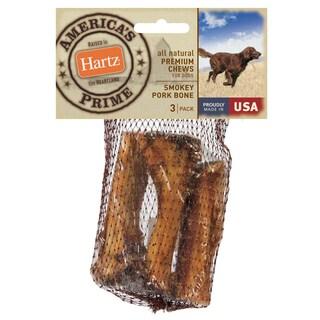 Hartz All Natural Premium Chews Smokey Pork Bone For Dogs 3 Count