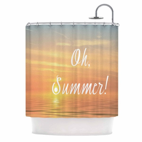 KESS InHouse Alison Coxon Oh, Summer! Blue Coastal Shower Curtain (69x70)
