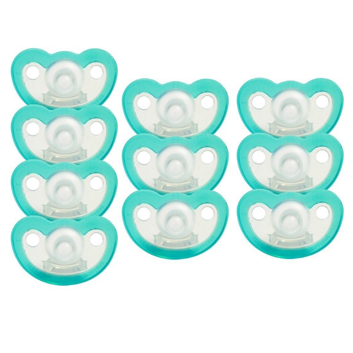 JollyPop Teal Silicone Pacifier Preemie Unscented (10 Pac...
