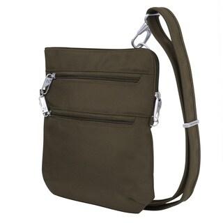 Travelon Anti-Theft Classic Slim Double Zip Crossbody Handbag
