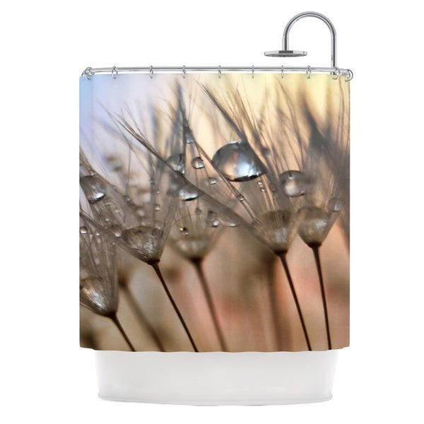 KESS InHouse Alison Coxon Trinkets Flower Shower Curtain (69x70)