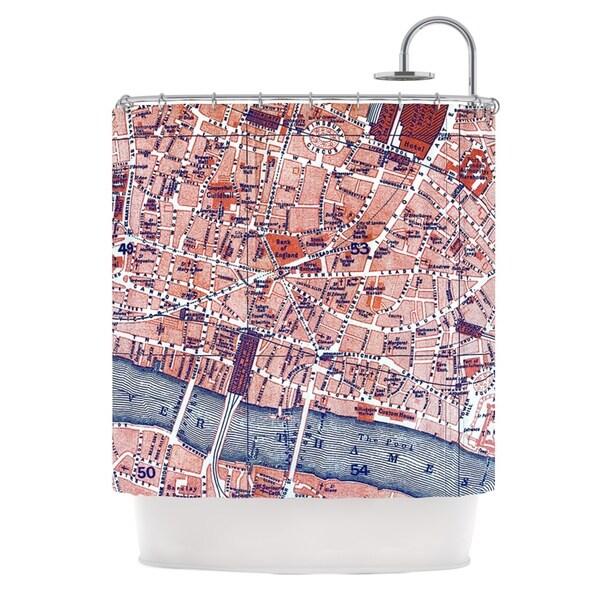 KESS InHouse Alison Coxon City Of London Map Shower Curtain (69x70)