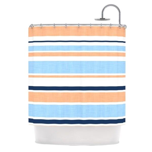 KESS InHouse Alison Coxon Jack Tar Pink Blue Orange Shower Curtain (69x70)