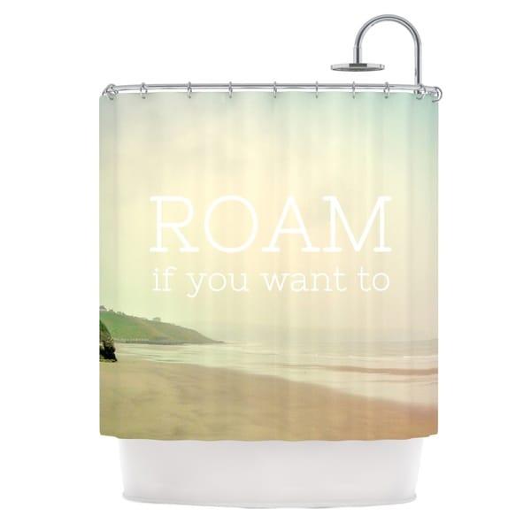 KESS InHouse Alison Coxon Roam Ocean Shower Curtain (69x70)