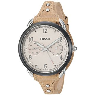 Fossil Women's ES4175 'Tailor' Multi-Function Brown Leather Watch