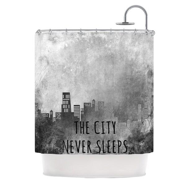 KESS InHouse Alison Coxon The City Never Sleeps Shower Curtain (69x70)