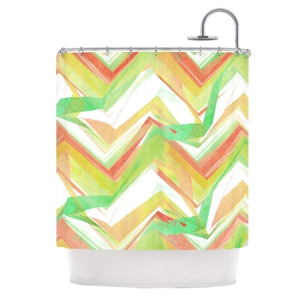 KESS InHouse Alison Coxon Summer Party Chevron Shower Curtain (69x70)