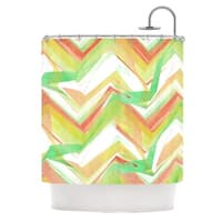 "KESS InHouse Alison Coxon ""Summer Party Chevron"" Shower Curtain (69x70) - 69 x 70"