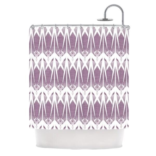 KESS InHouse Alison Coxon Arrow Lavender Shower Curtain (69x70)