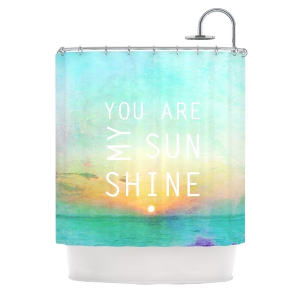 KESS InHouse Alison Coxon You Are My Sunshine Shower Curtain (69x70)