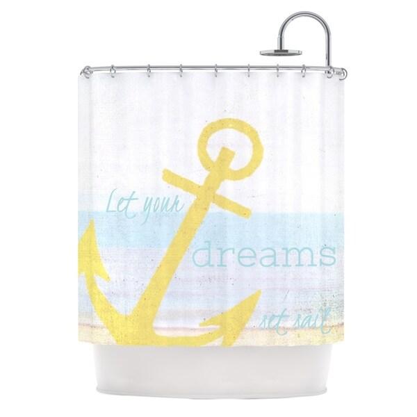 KESS InHouse Alison Coxon Let Your Dreams Set Sail Shower Curtain (69x70)