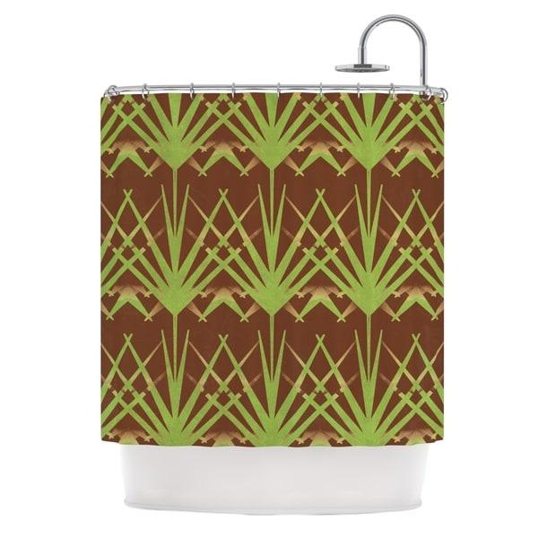 KESS InHouse Alison Coxon Mint Choc Shower Curtain (69x70)