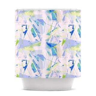 KESS InHouse Alison Coxon Shatter Blue Shower Curtain (69x70)