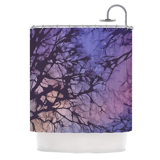 KESS InHouse Alison Coxon Violet Skies Shower Curtain (69x70)