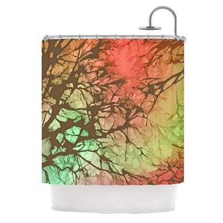 KESS InHouse Alison Coxon Fire Skies Shower Curtain (69x70)