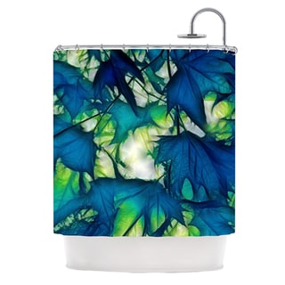 KESS InHouse Alison Coxon Leaves Shower Curtain (69x70)