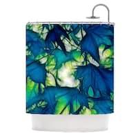 KESS InHouse Alison Coxon Leaves Shower Curtain (69x70)