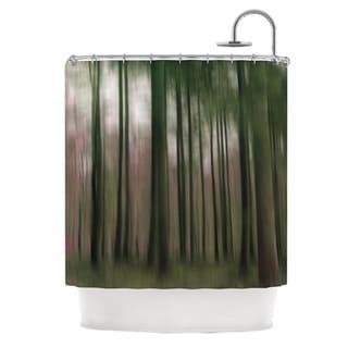 KESS InHouse Alison Coxon Forest Blur Shower Curtain (69x70)